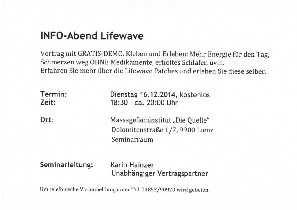 LifeWave 16.12.2014