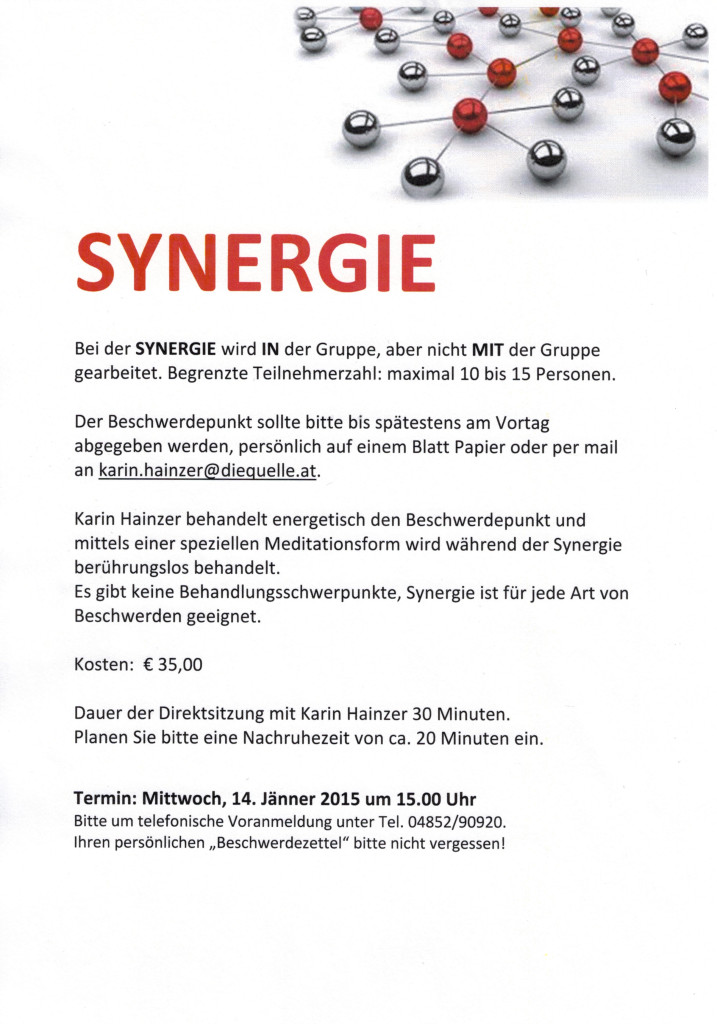 Synergie am 14.01.2015
