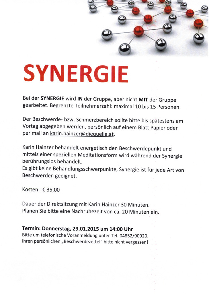 Synergie 29.01.2015