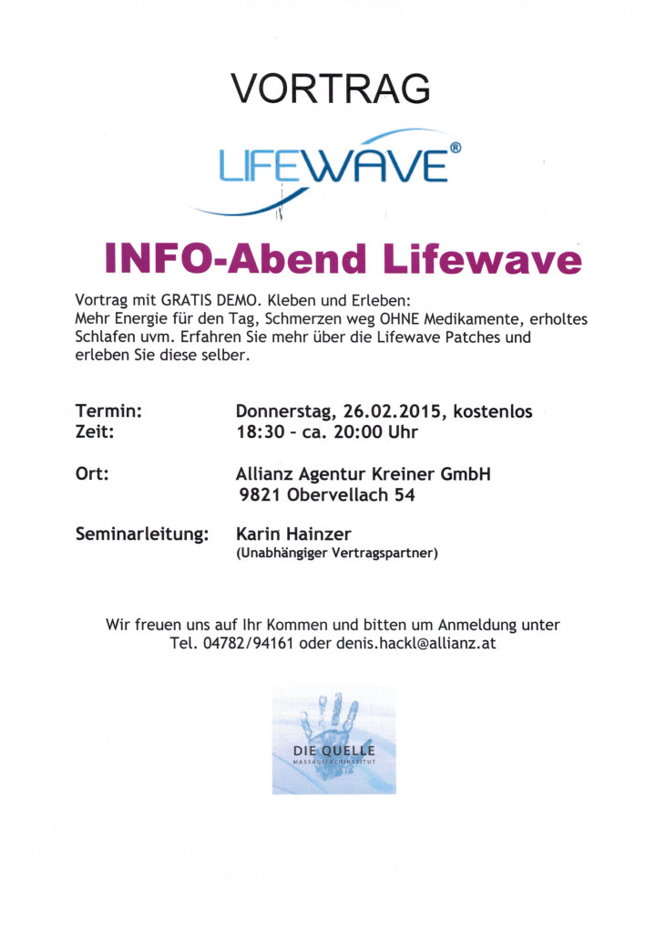 LifeWave 26.02.2015 in Obervellach