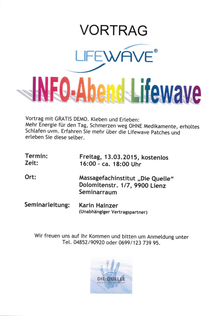 Lifewave 13.03.2015