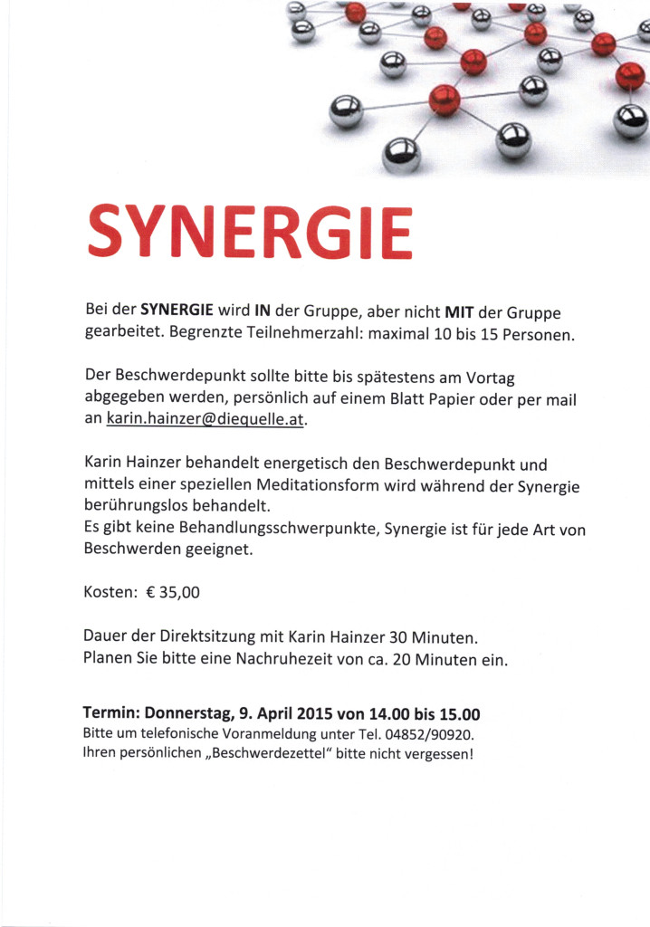 Synergie 09.04.2015